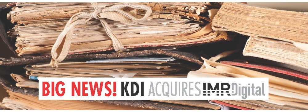 KDI Office Technology Announces the Acquisition of IMR Digital, West Hazleton, PA-Based Document Conversion Services Business